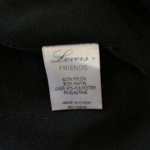 Lovers + Friends Skirts - Lovers + Friends Tatum Skirt Teal Black Lace
